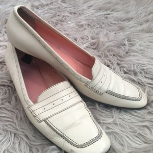 Off white leather shoes